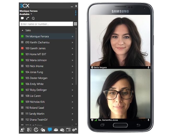 3CX Version 15apple and Android Client